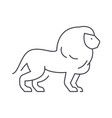 lion line icon sign on vector image