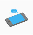 3d mobile phone and message - hello vector image vector image