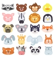Animals carnival mask set vector image vector image