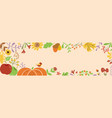 autumn border horizontal decorated pumpkin fall vector image vector image