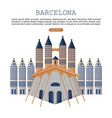 barcelona architecture card city famous vector image vector image