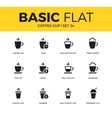 Basic set of coffee icons vector image