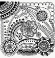 beauty zentangle design vector image