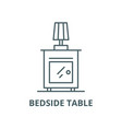 Bedside table line icon linear concept