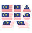 buttons with flag of Malaysia vector image