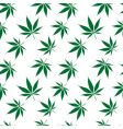 cannabis seamless pattern vector image vector image