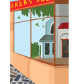 Cartoon street front side of the store vector image vector image