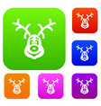 christmas deer set collection vector image vector image