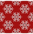 Christmas Snowflake pattern vector image vector image