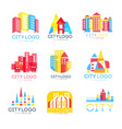 city logo original design set logotype elements vector image vector image