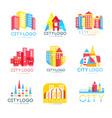 city logo original design set logotype elements vector image