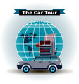 concept of a car tour around the world vector image