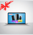 cyber monday super sale banner with message about vector image vector image