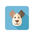 Dog flat icon with long shadow