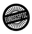 eurosceptic rubber stamp vector image vector image