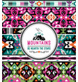 fancy abstract geometric pattern in tribal vector image vector image