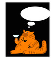 fat ginger cat makes a wise speech vector image