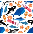 Fish cartoon seamless pattern wallpaper vector image vector image