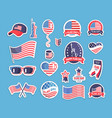 flag day usa themed souvenirs collection vector image vector image