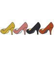 Four color pumps vector image vector image