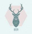 geometric deer abstract nordic deer emblem vector image vector image
