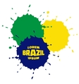 Grunge Spots using Brazil flag colors vector image vector image