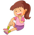 happy girl in pink shirt vector image vector image