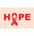 heart disease ribbon vector image vector image
