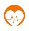 Heart rate pulse monitoring health vector image