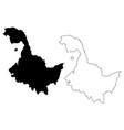 heilongjiang province map vector image vector image