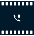 Incoming call flat style icon vector image vector image