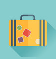 luggage symbol of flat color icon with long shadow vector image vector image