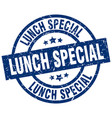 lunch special blue round grunge stamp vector image vector image