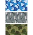 Military set of textures Winter blue Camo made of vector image vector image