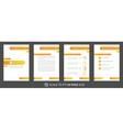 Modern business presentation creative design vector image vector image