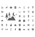 mountain forest icon summer holidays and vector image vector image