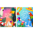 nautical summer cards marine vacation vector image