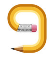 number nine pencil icon cartoon style vector image