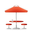 Parasol Promo Summer Caffee vector image