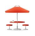 parasol promo summer coffee vector image
