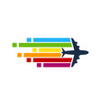pixel art travel logo icon design vector image