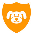 puppy shield flat icon vector image