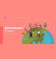 revegetation forest restoration and planting vector image vector image