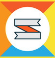 ribbon banner icon colored line symbol premium vector image