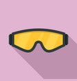 safety glasses icon flat style vector image