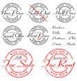 sale rent special offer stamp set vector image vector image