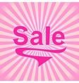 Sale retro poster vector image vector image