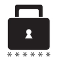 Security icon on a white background SingleSeries vector image vector image