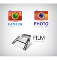 set of camera logos film icon vector image