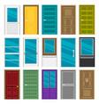 set of doors flat vector image vector image